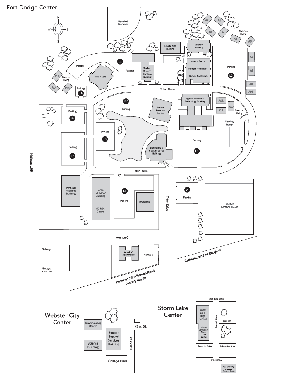 kenyon college campus map Campus Map Iowa Central Community College Acalog Acms kenyon college campus map